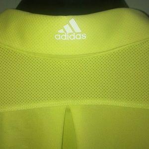 adidas Tops - Adidas Adizero yellow ligoni performance polo.